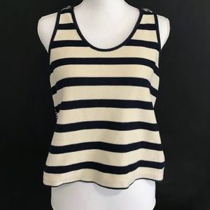 Madewell navy cream sweater tank top size M